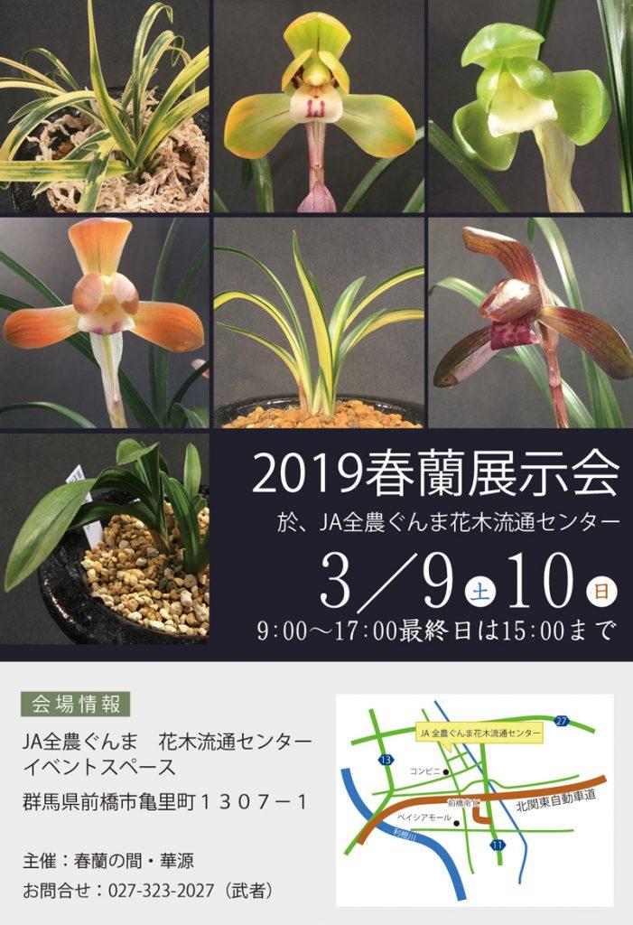 2019春蘭展示会開催のお知らせ